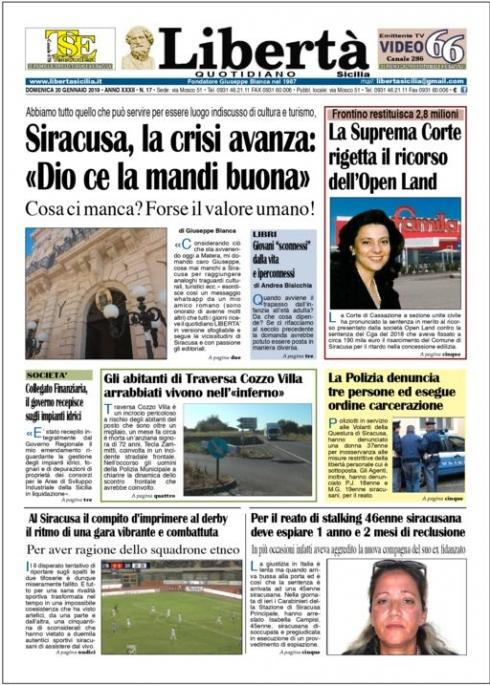 thumbnail of Libertà 20-01-19