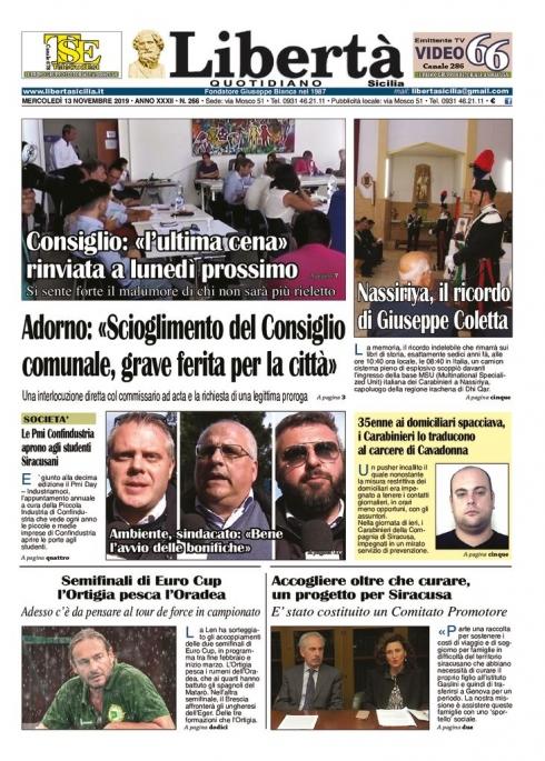 thumbnail of Libertà Sicilia 13-11-19